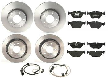 Disc Brake Pad and Rotor Kit - Front and Rear (296mm/298mm) (Low-Met) 1638608KIT Main Image