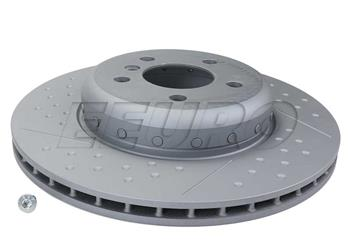 Disc Brake Rotor - Rear (345mm) (2-Piece) (Dimpled and Slotted) 355120781 Main Image