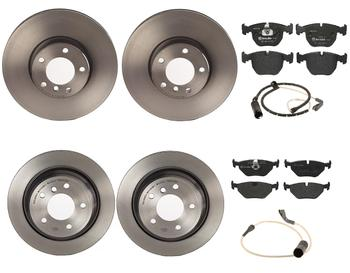 Disc Brake Pad and Rotor Kit - Front and Rear (324mm/298mm) (Low-Met) 1596850KIT Main Image