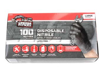 Nitrile Gloves (Black) (100 Pack) (L) 23890110 Main Image