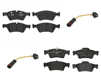 Brake Pad Set Kit - Front and Rear (Low-Met) 1557770KIT Main Image