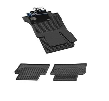 Floor Mat Set - Front and Rear (All Weather) (Rubber) (Black) 4164422KIT Main Image