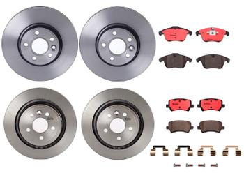 Disc Brake Pad and Rotor Kit - Front and Rear (300mm/302mm) (Ceramic) 1633287KIT Main Image