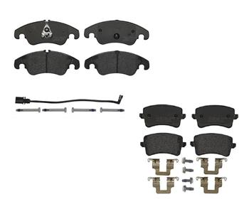 Brake Pad Set Kit - Front and Rear (Low-Met) 1557335KIT Main Image
