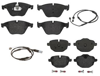 Brake Pad Set Kit - Front and Rear (Low-Met) 1558887KIT Main Image