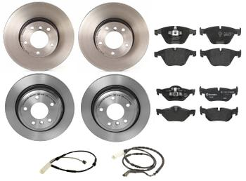 Disc Brake Pad and Rotor Kit - Front and Rear (312mm/300mm) (Low-Met) 1591296KIT Main Image