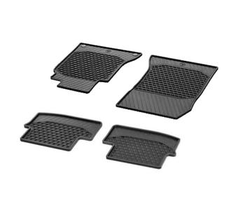 Floor Mat Set - Front and Rear (All Weather) (Rubber) (Black) 4165078KIT Main Image