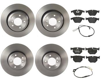 Disc Brake Pad and Rotor Kit - Front and Rear (324mm/320mm) (Low-Met) 1598778KIT Main Image