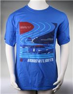 AER Official Road Atlanta Race T-Shirt (L) (Blue) (2017) AERT00007