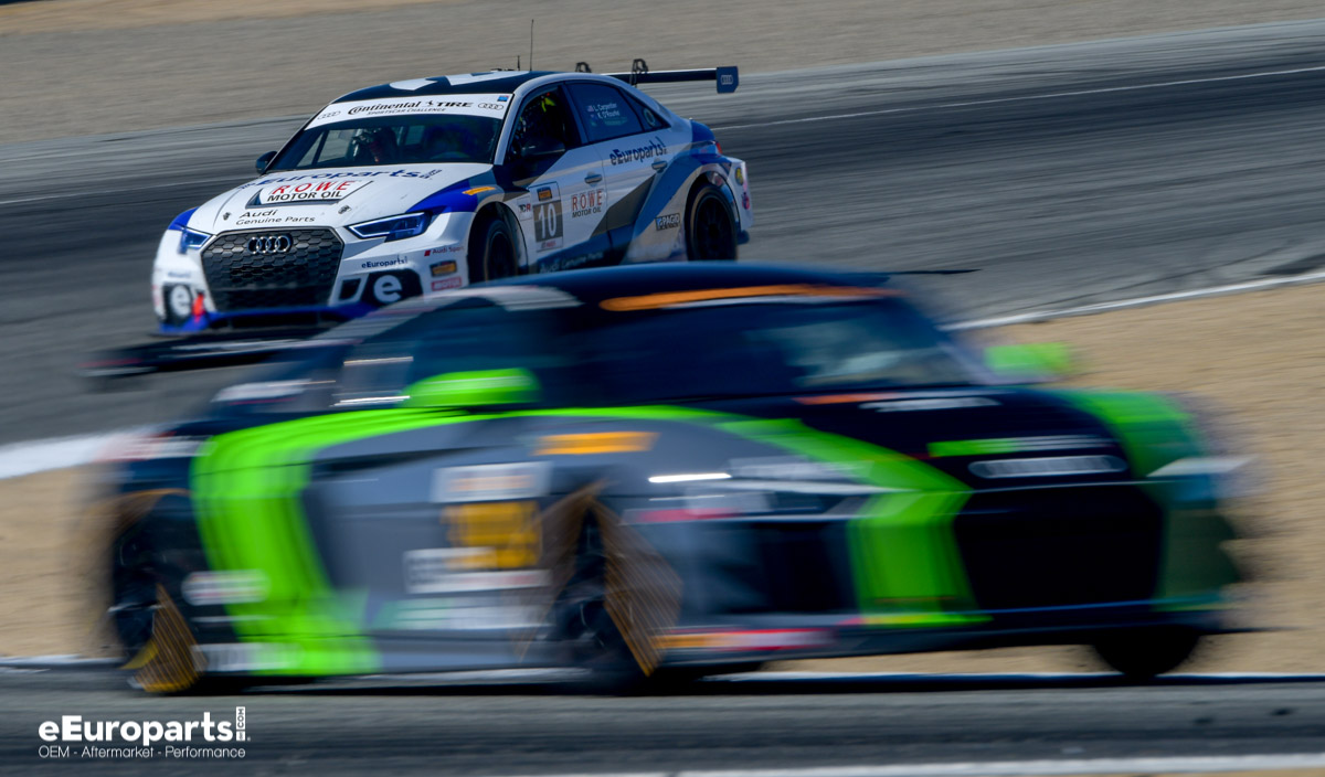 IMSA Laguna Seca 2018 Audis GS and TCR