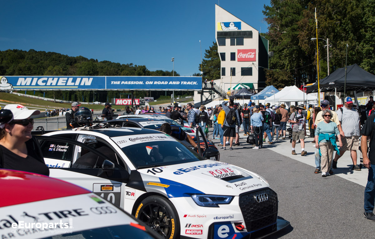 IMSA Road Atlanta Continental Tire Pre-grid Audi RS 3 LMS TCR